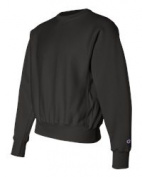 Champion S149 Adult Reverse Weave Crew Black - Large
