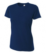A4 NW3249 Womens Combed Ring-spun Short-Sleeve Tee - Navy Large