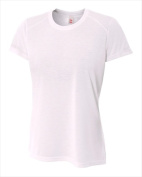 A4 NW3264 Womens Spun Poly Tee White Medium