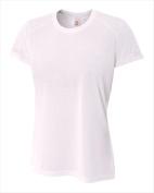 A4 NW3264 Womens Spun Poly Tee White Medium