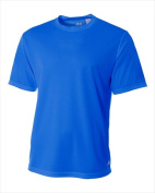 A4 N3252 Mens Short Sleeve Crew Birds Eye Mesh Tee Royal Extra Small