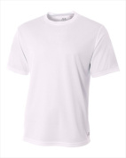A4 N3252 Mens Short Sleeve Crew Birds Eye Mesh Tee White Small