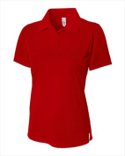 A4 NW3265 Womens Textured Polo With Johnny Collar - Scarlet Red Medium