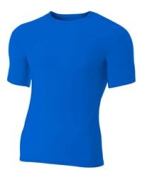 A4 N3130 Short Sleeve Compression Crew Royal - 3X-Large