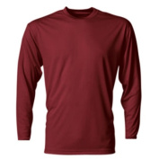 A4 NB3165 Youth Cooling Performance Long Sleeve Crew Cardinal - Medium