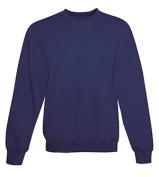 Hanes F260 Adult Ultimate Cotton Crew Sweatshirt Navy Large