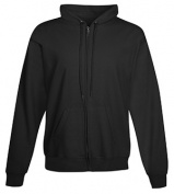Hanes F280 Adult Ultimate Cotton Full-Zip Hood Sweatshirt Black Extra Large