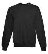 Hanes P160 Adult Comfortblend Ecosmart Crew Sweatshirt Black Large