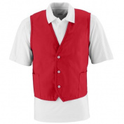 Augusta 2145A Three Button Front Closure Vest Red - Large