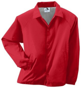 Augusta 3100A Adult Nylon Coachs Jacket Red - Small
