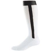 Augusta 6015A Adult Baseball Stirrup Socks White & Black Size - 10-13