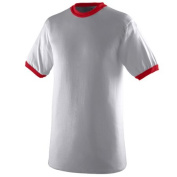 Augusta 710A Ringer T-Shirt - Athletic Heather & Red 3X