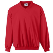 Augusta 3415A Adult Micro Poly Windshirt & lined Red - Large
