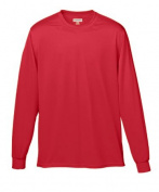 Augusta 788A Adult Wicking Long Sleeve Tee Red - Large