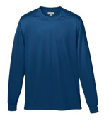 Augusta 788A Adult Wicking Long Sleeve Tee Navy - Small