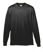 Augusta 788A Adult Wicking Long Sleeve Tee Black - Small