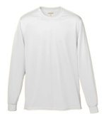 Augusta 788A Adult Wicking Long Sleeve Tee White - 2X