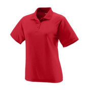 Augusta 5097A Ladies Wicking Mesh Sport Shirt Red - Small
