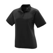Augusta 5097A Ladies Wicking Mesh Sport Shirt Black - Medium