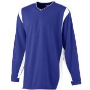 Augusta 4600A Wicking Long Sleeve Warmup Shirt Purple & White - 3x