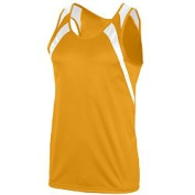 Augusta 311A Wicking Tank With Shoulder Insert Gold & White - Small