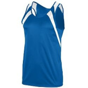 Augusta 311A Wicking Tank With Shoulder Insert Royal & White - 3X