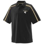Augusta 5025A Playoff Sport Shirt Black & Vegas Gold - Small