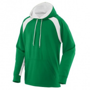 Augusta 5527A Fanatic Hooded Sweatshirt Kelly & White - 3X