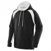 Augusta 5527A Fanatic Hooded Sweatshirt Black & White - Extra Small