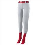 Augusta 1240A Ladies Low Rise Homerun Pant - Silver 2X