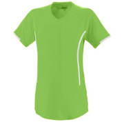 Augusta 1270A Ladies Heat Jersey T-Shirt Lime and White Medium