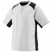 Augusta 1520A Gamer Jersey T-Shirt White and Black 2X