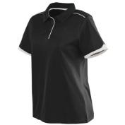 Augusta 5042A Ladies Motion Sport Shirt Black and White Medium