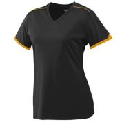 Augusta 5046A Girls Motion Crew T-Shirt Black & Gold Medium
