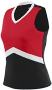 Augusta 9201A Girls Shell - Black & amp;#44; Red and White & amp;#44; Small