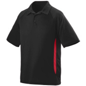 Augusta 5005A Adult Mission Sport Shirt - Black & Red 2X