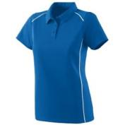 Augusta 5092A Ladies Winning Streak Sport Shirt - Royal And White Small