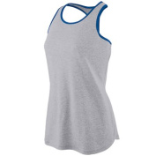 Augusta 1262A Ladies Splash Jersey - Athletic Heather and Royal 2X