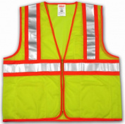 Tingley Rubber V70642.2X-3X II Safety Vest 2 Extra Large & 3 Extra Large Polyester Lime & Yellow