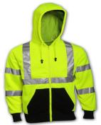 Tingley Rubber S78122.MD Class 3 Compliant Sweatshirt - Medium Yellow & Green