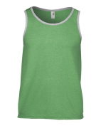 Anvil 986 Adult Lightweight Tank Top - Heather Green & Heather Grey 2X
