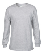 Anvil 784 Adult Midweight Long Sleeve Tee - Heather Grey Extra Large