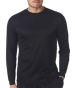 C2 Sport 5104 Adult Performance Long-Sleeve Tee - Black Medium