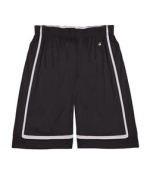 Badger 2248 Youth B-Line Reversible Short Black and White Large