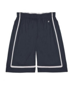Badger 2248 Youth B-Line Reversible Short Navy and White Large