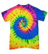 Colortone T1001 Multi Colour Tie Dye Tee Neon Rainbow - Small