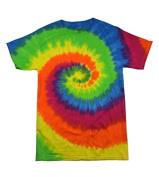 Colortone T1001Y Multi Colour Tie Dye Youth Tee Moon Dance - Medium