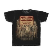 The Walking Dead Warning Sign Mens T-Shirt Multi-Coloured