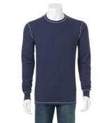 Bella-Canvas C3500 Mens Thermal Long Sleeve Tee - Navy & Grey 2X