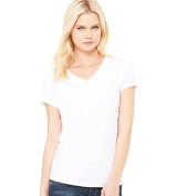 Bella-Canvas B6005 Womens Jersey Short Sleeve V-Neck Tee - White Extra Large